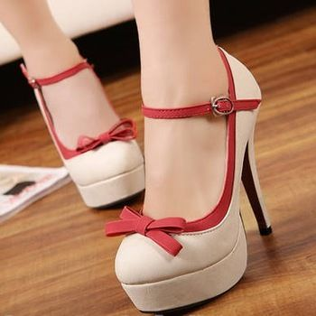 CUTE!! ------ sweet bow high-heeled platform pump shoes on Chiq http://www.chiq.com/sweet-bow-high-heeled-platform-pump-shoes