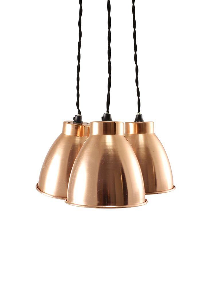 Trinske Triple Pendant - Copper  |  Cox & Cox