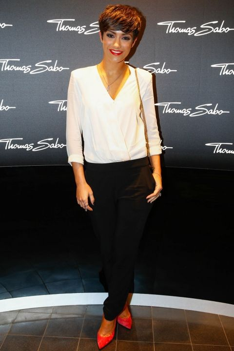 Frankie Bridge Matches Her Lips With Her Shoes To The Thomas Sabo Store Opening, 2014