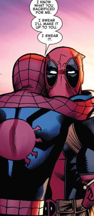 Best Friends Hugging It Out in Spider-Man/Deadpool #18