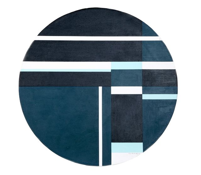 Ilya Bolotowsky Blue Tondo 1978 Available For Sale Artsy In 2020 Painting City Art Canvas Painting