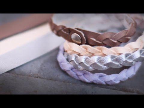 DIY Flechtarmband aus einem Stück | schmück dich hübsch - YouTube