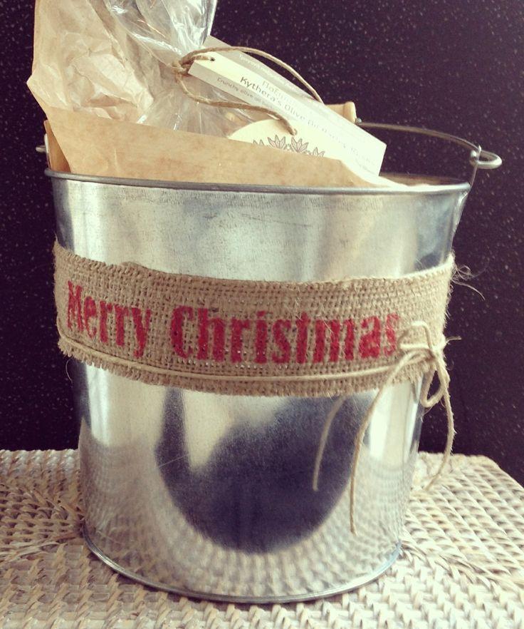 Tin bucket #greek #christmas #gift # packaging