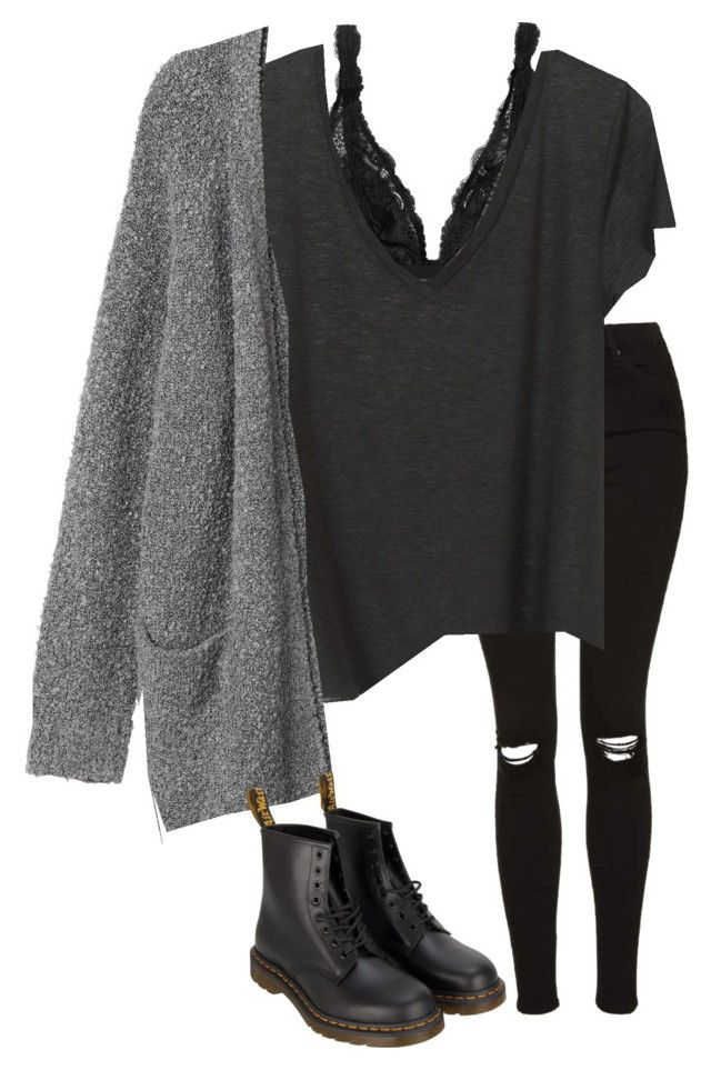 """Untitled #546"" by petitaprenent on Polyvore featuring Topshop, Monki and Dr. Martens"