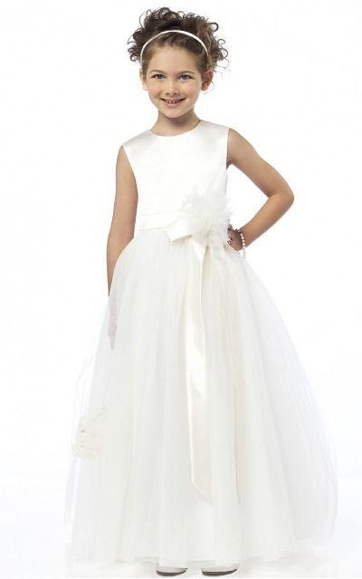 Satin Jewel Natural Princess Floor-length Bridesmaid Dresses 0740061
