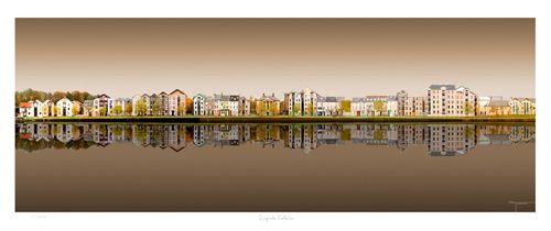 Quayside Lancaster uk Reflections by Joseph Tamassy