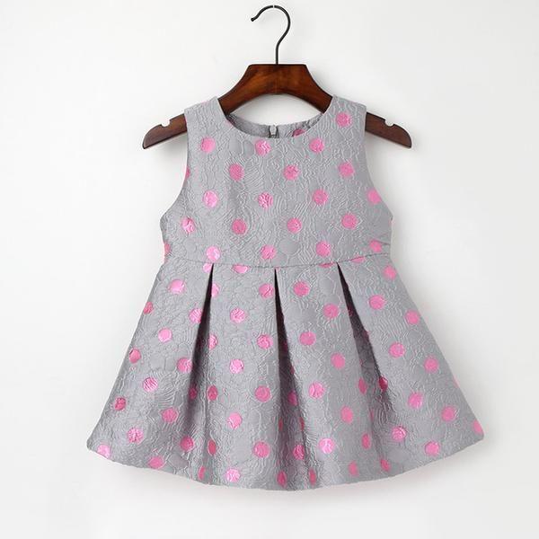 Baby Girls Dress 2017 Spring/Winter Girls Clothes Wedding Party Pink Dot Print Dresses Girl Kid Clothing Roupas Infantis Menina