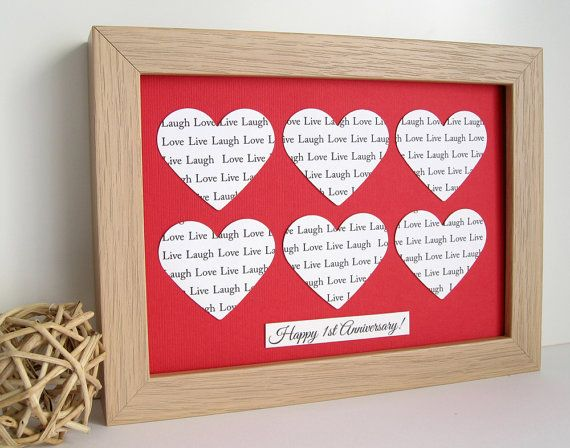 Personalised Framed Wedding Anniversary Gift by PaperHeartCreation, £21.00