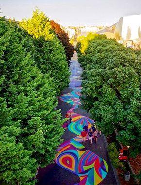 walkway by Jessie & Katey in Seattle, Washington, 2016 (LP)