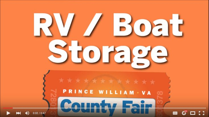 rv and boat storage at the fairgrounds