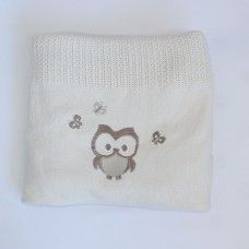 Owl Cellular Cotton Baby Blanket. Available online at http://www.babesandkids.co.za