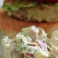 Baby potato salad with dill & chive aioli