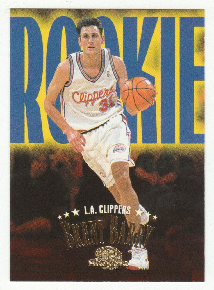 Brent Barry RC # 229 - 1995-96 SkyBox Premium Basketball NBA Rookie