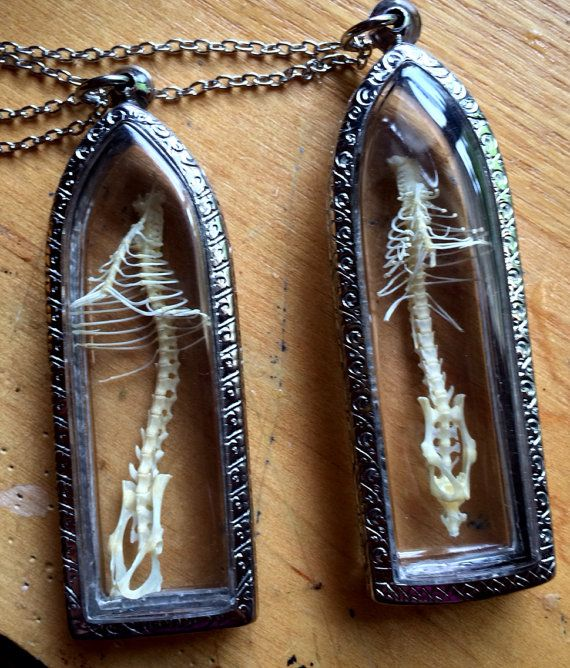 Mouse Skelton necklace by Afterlifeartwork on Etsy