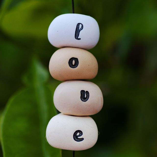 Make Stamped Polymer Clay Beads to Personalize Your Craft Projects: Learn How to Make DIY Stamped Alphabet Beads