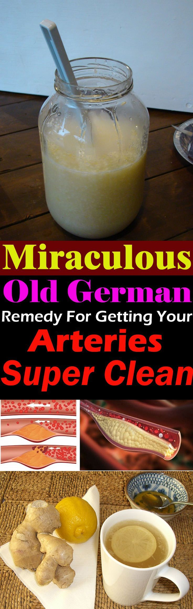 This old German remedy have the power to detoxify your body and cleaning up your arteries if you take it regularly for a few days!
