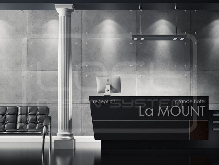 Loft Concrete - Grande hotel La MOUNT. Click for more information or to visit our website.  #LoftDesignSystem #loftsystem #Decorativepanels #Inspiration #Interior #Design #wallpanels #3Ddecorativepanels #3dpanels #3dwallpanels #office #officedecorations #hotel #lamount