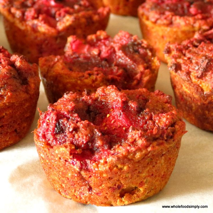 Wholefood Simply Strawberry Muffins - Paleo