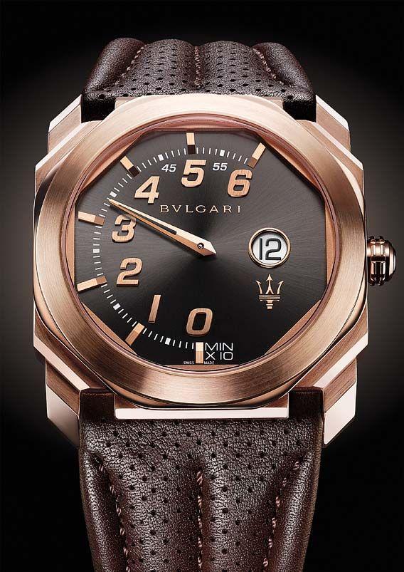 La Cote des Montres : La montre Bulgari Octo Retro Maserati - Bvlgari et Maserati, la mécanique de l'excellence
