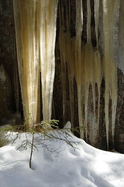 Icicles by MiikaS, Nuuksio National Park, Finland via Flickr
