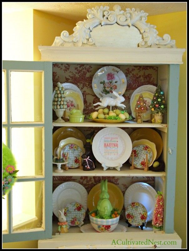 17 best images about easter hutch displays on pinterest for Kitchen ideas book