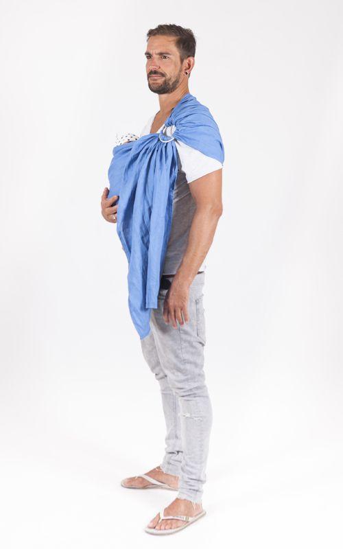 Bandolera de anillas #KEYWESTsling by Littlemiss.es    - fular portabebés, fular elástico, portabebés, baby wrap, wrap, baby carrier, baby sling, porteo, porteo ergonómico, babywearing, bandolera de anillas, ring sling, mei tai, mochila ergonómica, mochila portabebés