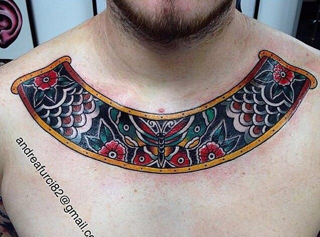 db2d977a75d80 27 Collar Bone Tattoos That Are Definitely Worth The Pain | American  Traditional | Necklace tattoo, Collar tattoo, Tattoos