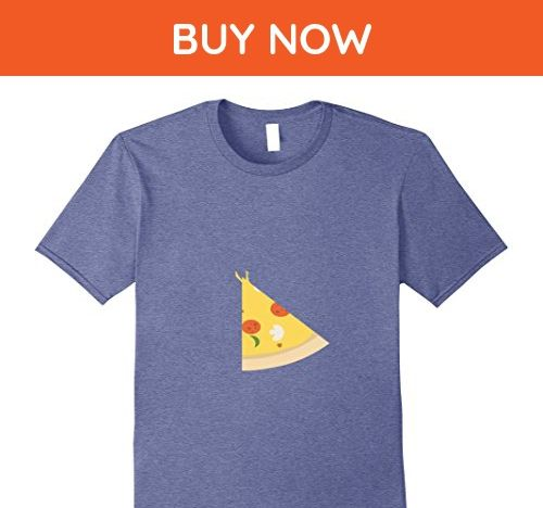 Mens  Pizza  Piece Slice Missing Father Son Funny Cute T-Shirt Large Heather Blue - Relatives and family shirts (*Amazon Partner-Link)