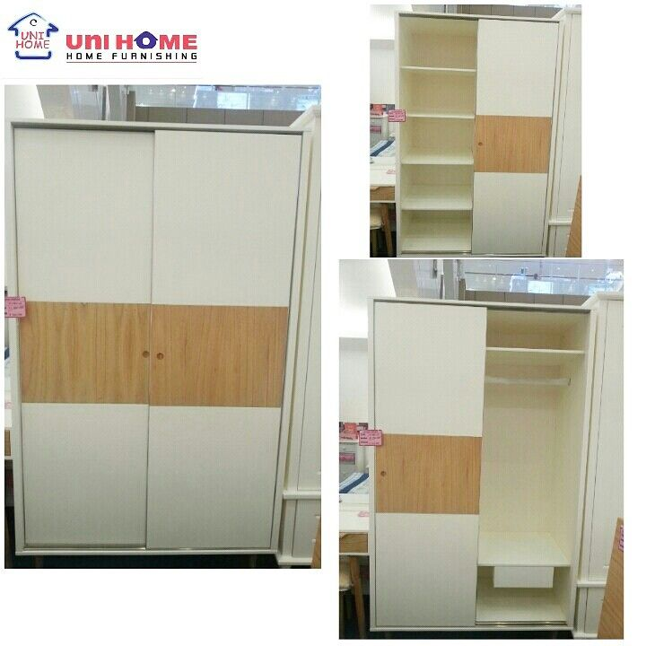 Wardrobe Korea, W120 X D60 X H200 CM. Available here in #unihomefurniture to fit your available space!♡♡♡