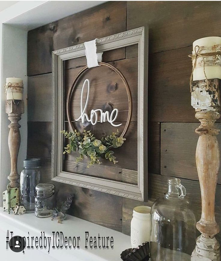 Repurposed table legs for candle holders & the wall art!