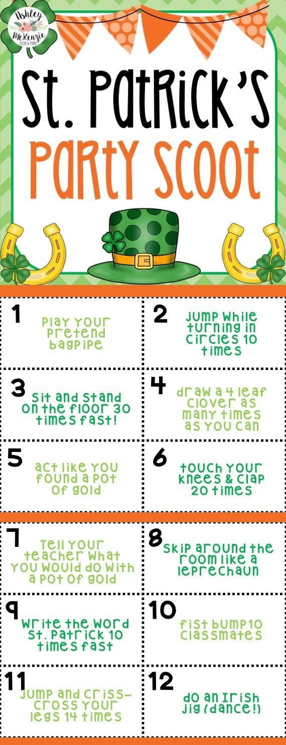 Your student's will love this St. Patrick's Day Party Scoot Game! Gets your students up and moving and having a blast!