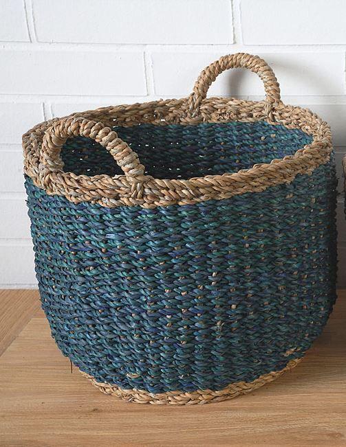 Košík mořská tráva a juta A07944_MO2