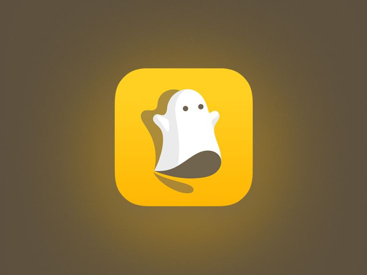 Snapchat Ghost - by Rudy Chidiac | #ui #icon