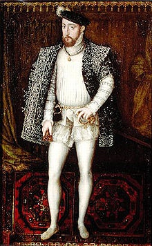 HENRI II DE VALOIS (1519 - 1559) King of France from 1547 untill 1559. - married to CATHERINE DE MEDICI / by Francois CLOUET