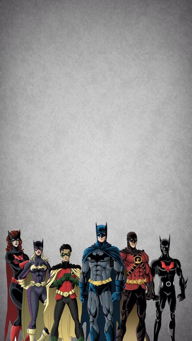 Batman & co.; iPhone Wallpaper.