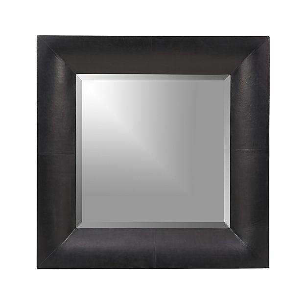 Maxx Black Wall Mirror | Crate and Barrel