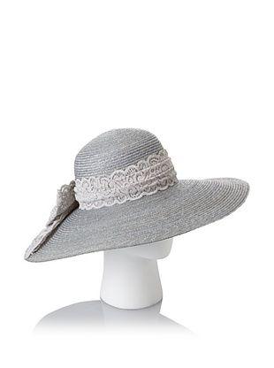 69% OFF Giovannio Women's Milan Swinger Lace Bow Hat, Faded Denim