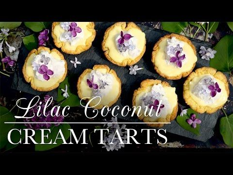 Lilac Coconut Cream Tarts from Kitchen Vignettes