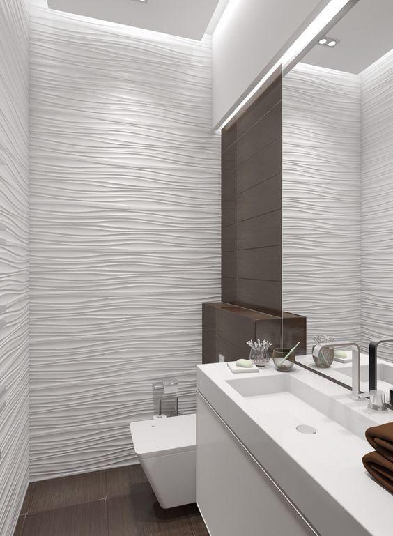 Wandverkleidung 12 Moglichkeiten 3d Quellen Im Badezimmer Zu Verwenden Badezimmer Fliesen Moglichkeiten V Badezimmer Badezimmer Innenausstattung 3d Fliesen