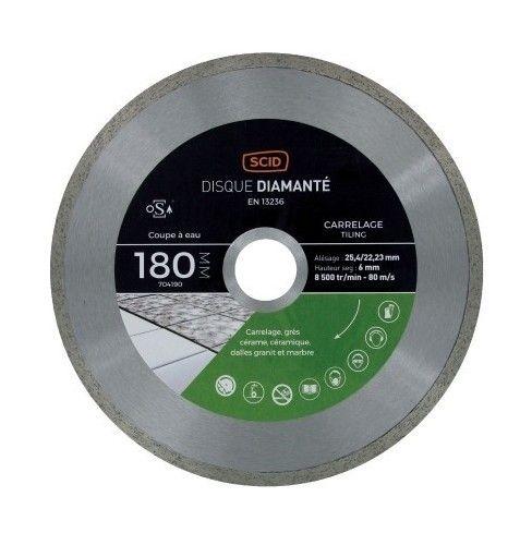 Disque Diamante Gres Cerame Et Carrelage Scid Diametre 180 Mm Tools Tape