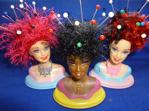 Make a Barbie Head Pin Cushion