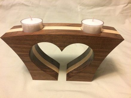 heart shaped tea light candle holder
