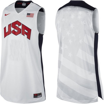 Nike 2012 London Olympic USA Basketball Team - Authentic White Customized Jersey
