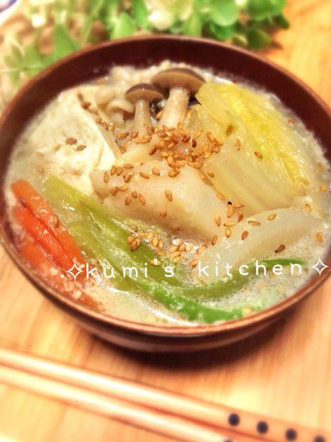 ごまみそ豆乳鍋♡簡単激ウマ〜♡ by kumi0901 [クックパッド] 簡単おいしいみんなのレシピが225万品