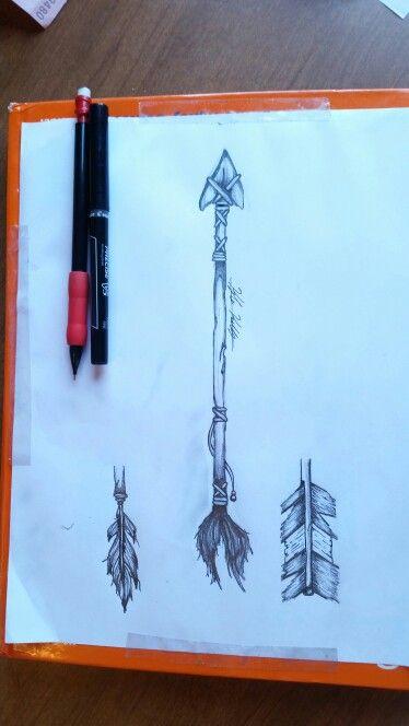 Hand Drawn. Arrow. Bow&Arrow. Native American. Art. Tattoo idea.