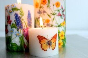 Cómo hacer velas decoradasHacer Velas, How To Make, Manualidades Creativas, Decoupaged Candles, Velas Decoradas, Decoupage Candles, Blog De, En Velas, De Velas