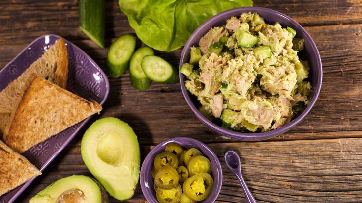 Bob Harper's Avocado Tuna Salad  i would make this ..but with chicken instead of tuna