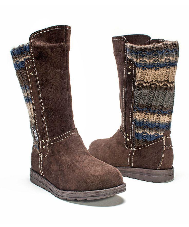 Look at this #zulilyfind! Dark Brown Stacy Boot - Women by MUK LUKS #zulilyfinds