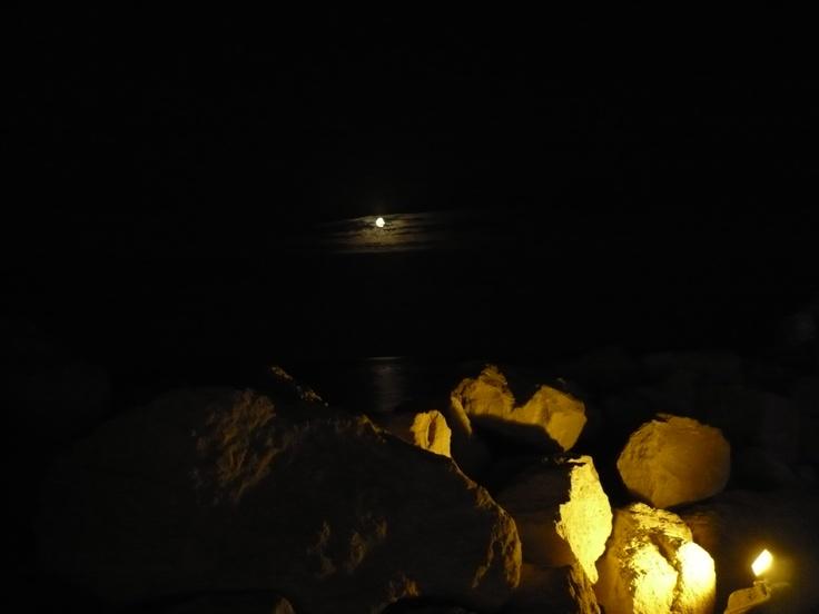 moon on the rocks