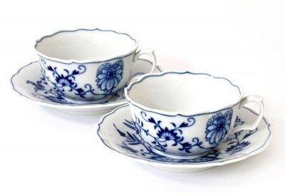 Blue Danube - I got this set as a wedding gift in 1971. Now they're considered vintage.